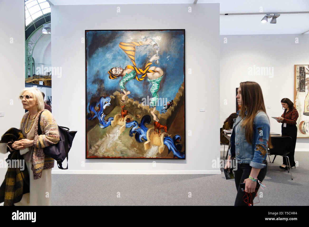 Paris, France. 3th April, 2019. Gerard Garouste exibited at Paris Art Fair, Paris, 2019, France. Credit: Veronique Phitoussi/Alamy Stock Photo Stock Photo