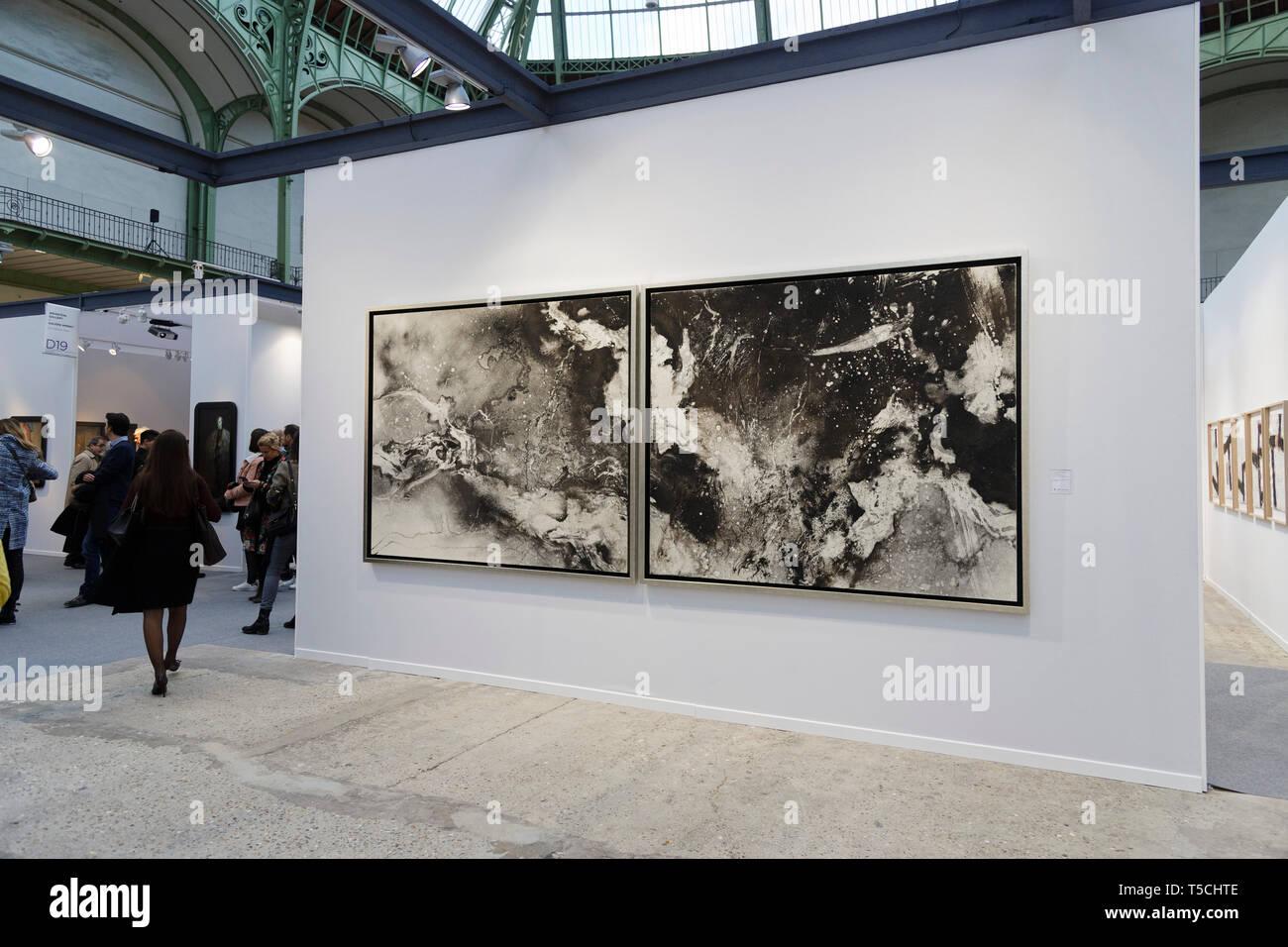 Paris, France. 3th April, 2019. Takehiko Sugawara exibited at Paris Art Fair, Paris, 2019, France. Credit: Veronique Phitoussi/Alamy Stock Photo Stock Photo