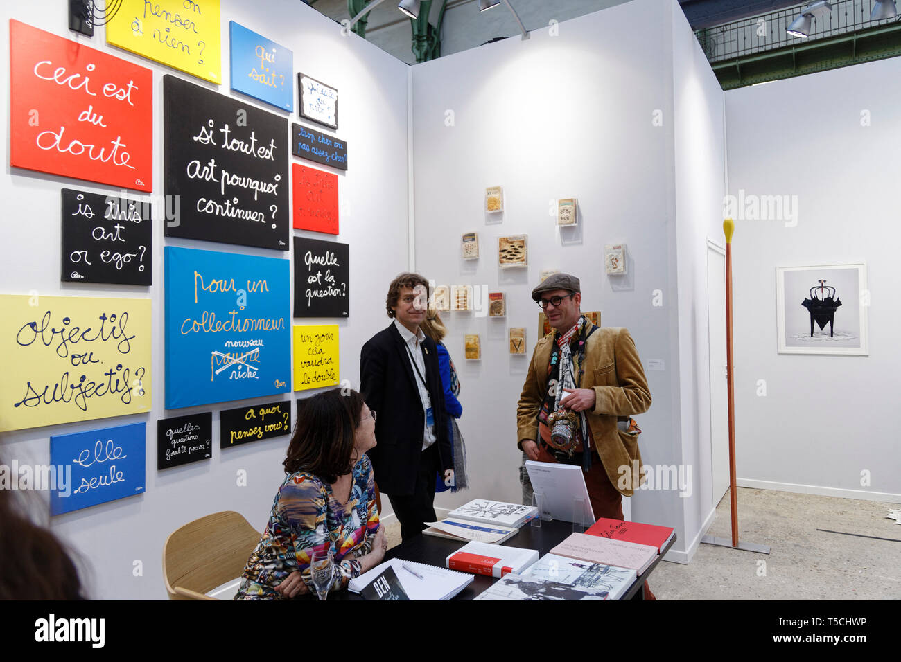 Paris, France. 3th April, 2019. Ben exibited at Paris Art Fair, Paris, 2019, France. Credit: Veronique Phitoussi/Alamy Stock Photo Stock Photo