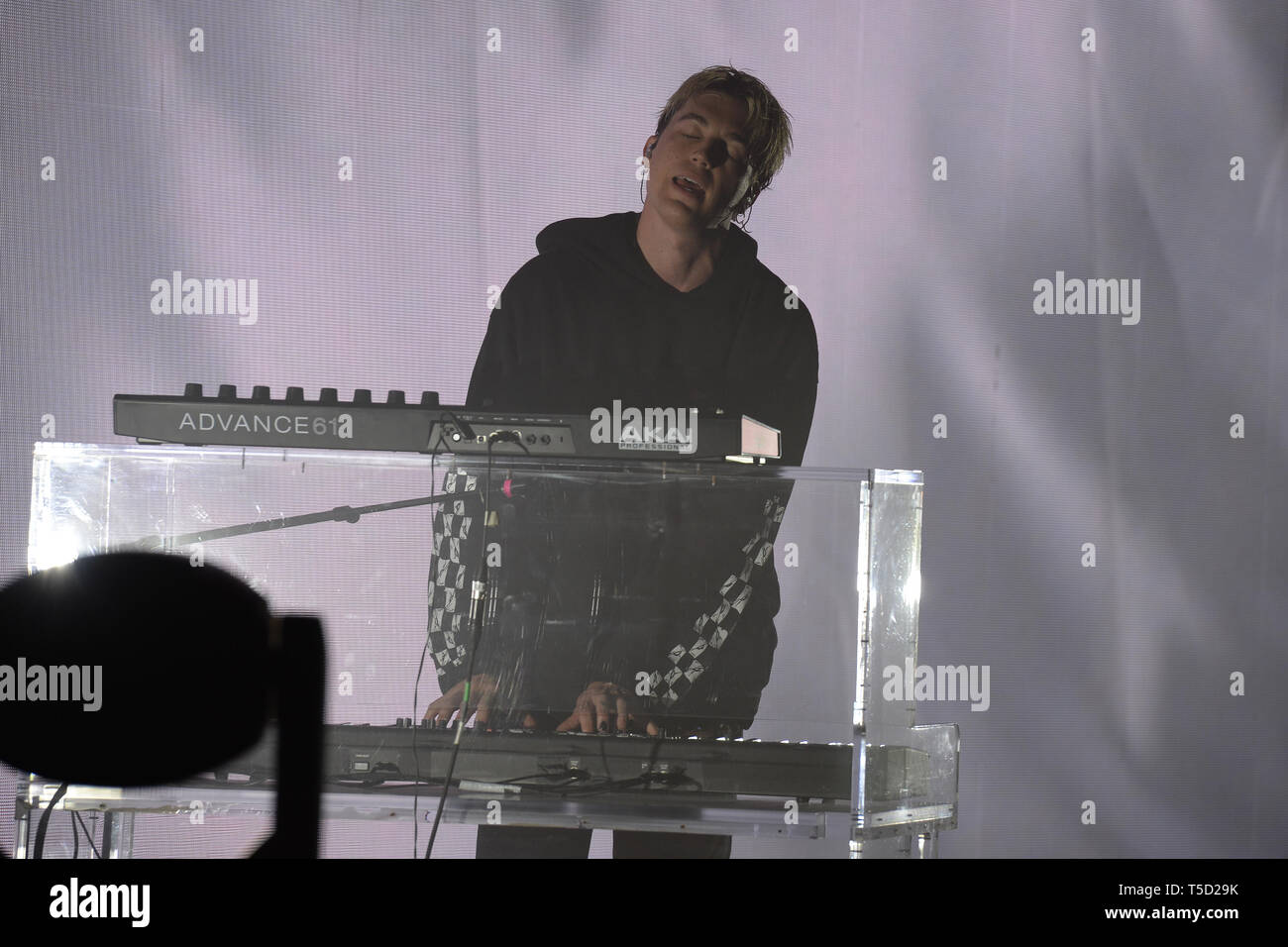 Miami Beach, FL, USA. 23rd Apr, 2019. Paul Jason Klein of LANY performs at the Fillmore on April 23, 2019 in Miami Beach, Florida. Credit: Mpi04/Media Punch/Alamy Live News Stock Photo