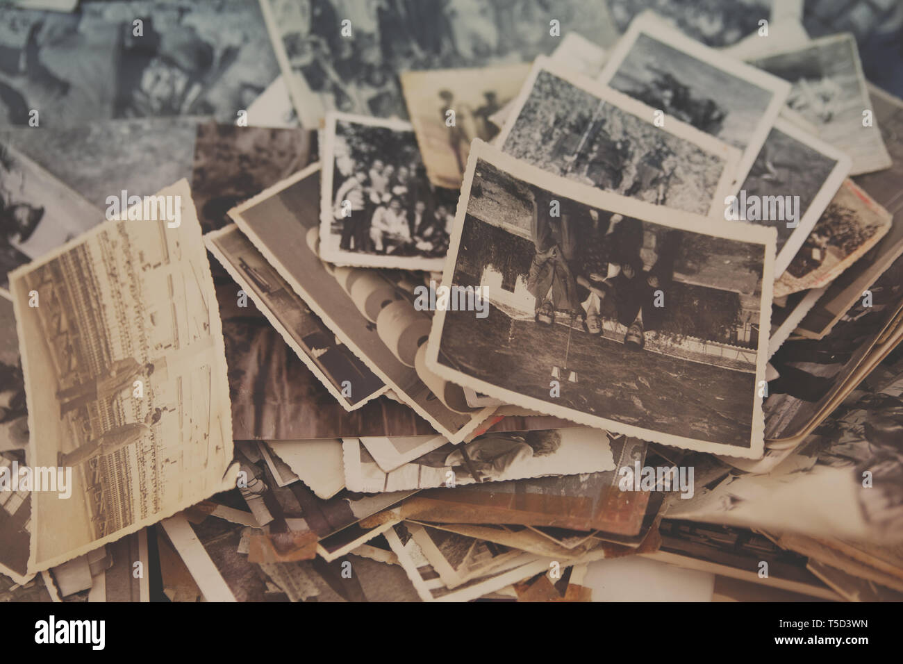 old analog photos in tirana market II, albania - Stock Image