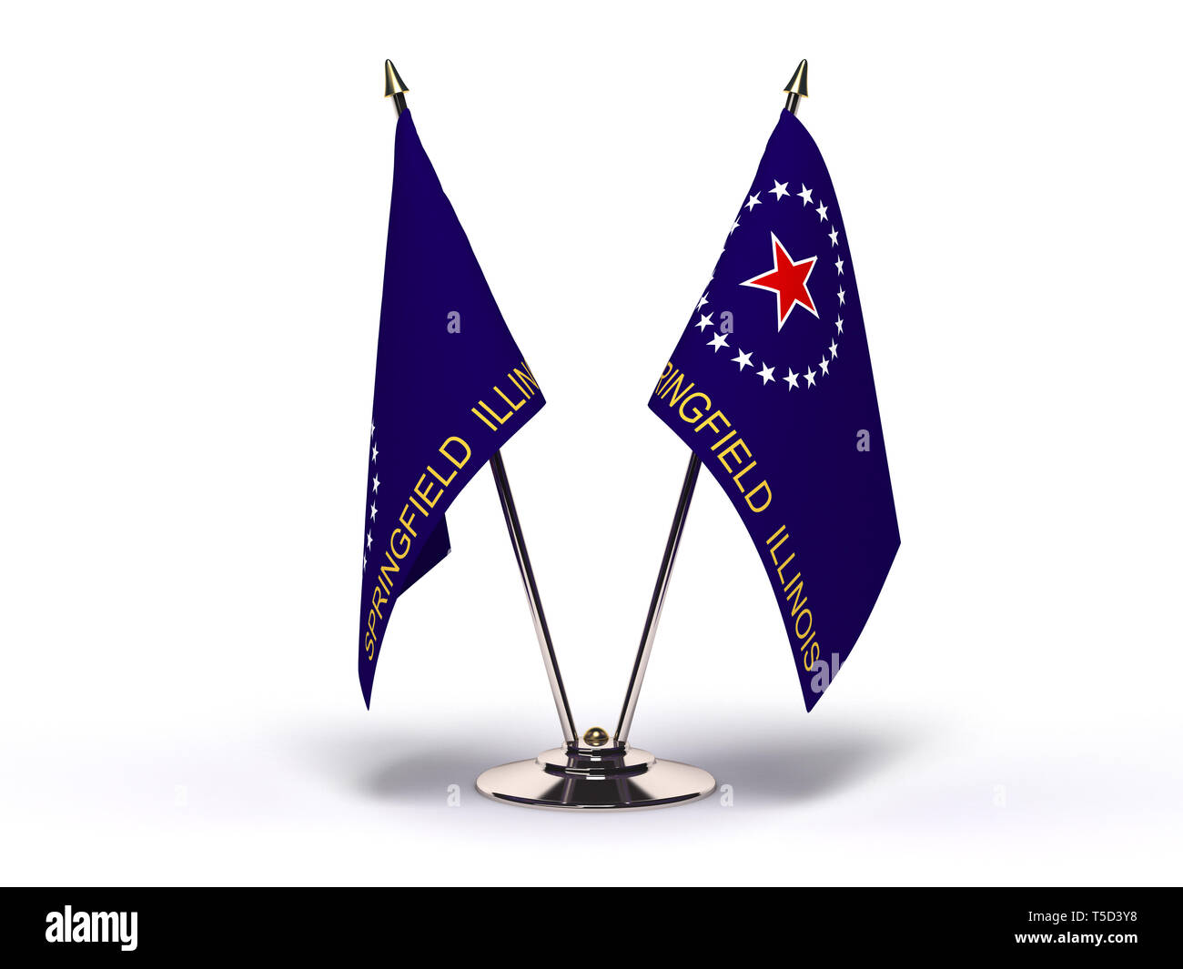 Illinois Springfield Flag (Flags Isolated with clipping path) - Stock Image