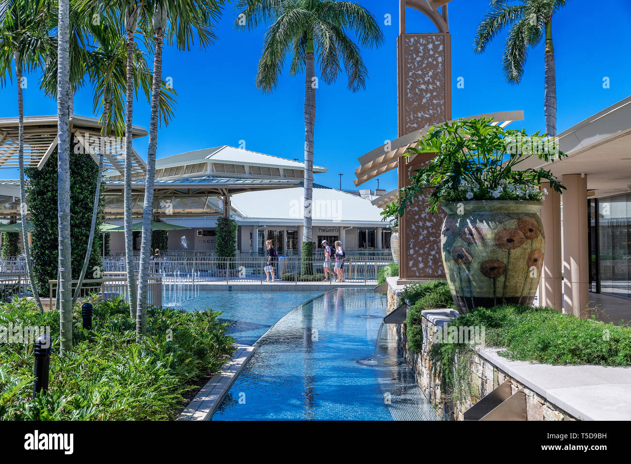 The Waterside Shops is a high end mall in Naples, Florida, USA. - Stock Image