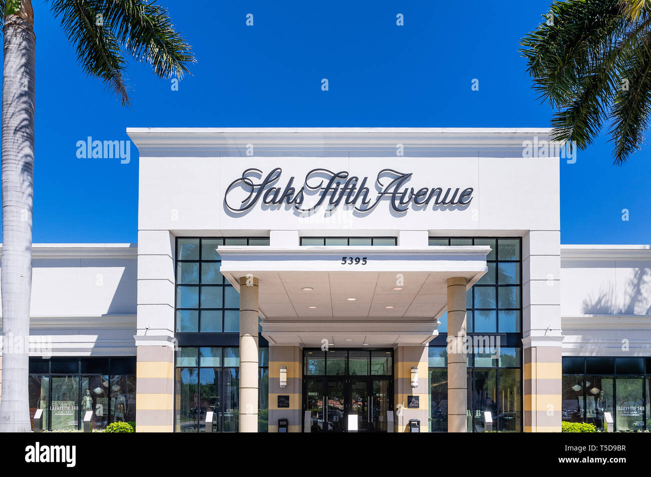 Saks Fifth Avenue store exterior, Waterside Shops, Naples, Florida, USA. - Stock Image