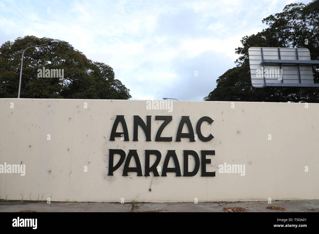 ANZAC Parade near Moore Park Road Stock Photo
