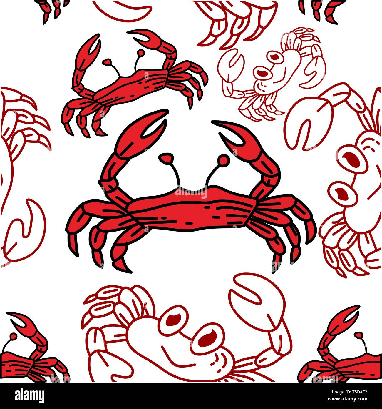 Red Claw Crab Stock Vector Images Page 3 Alamy
