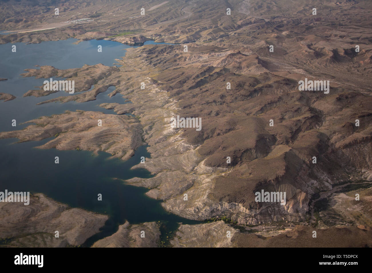 Aerial of Lake Mead National Recreation Area, Arizona Stock Photo