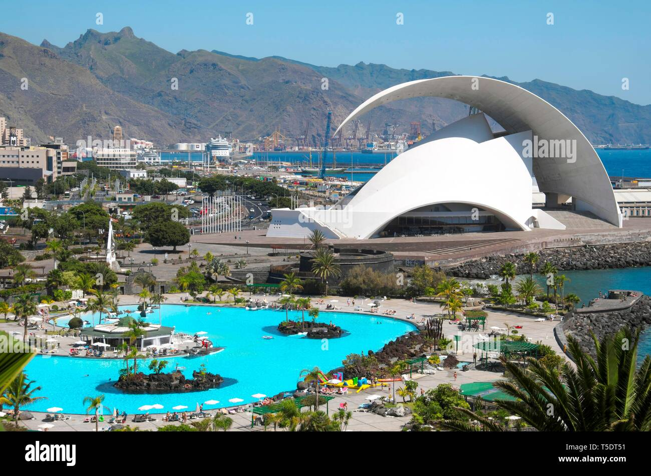 Overview Of Parque Maritimo Outdoor Pool In Cesar Manrique And