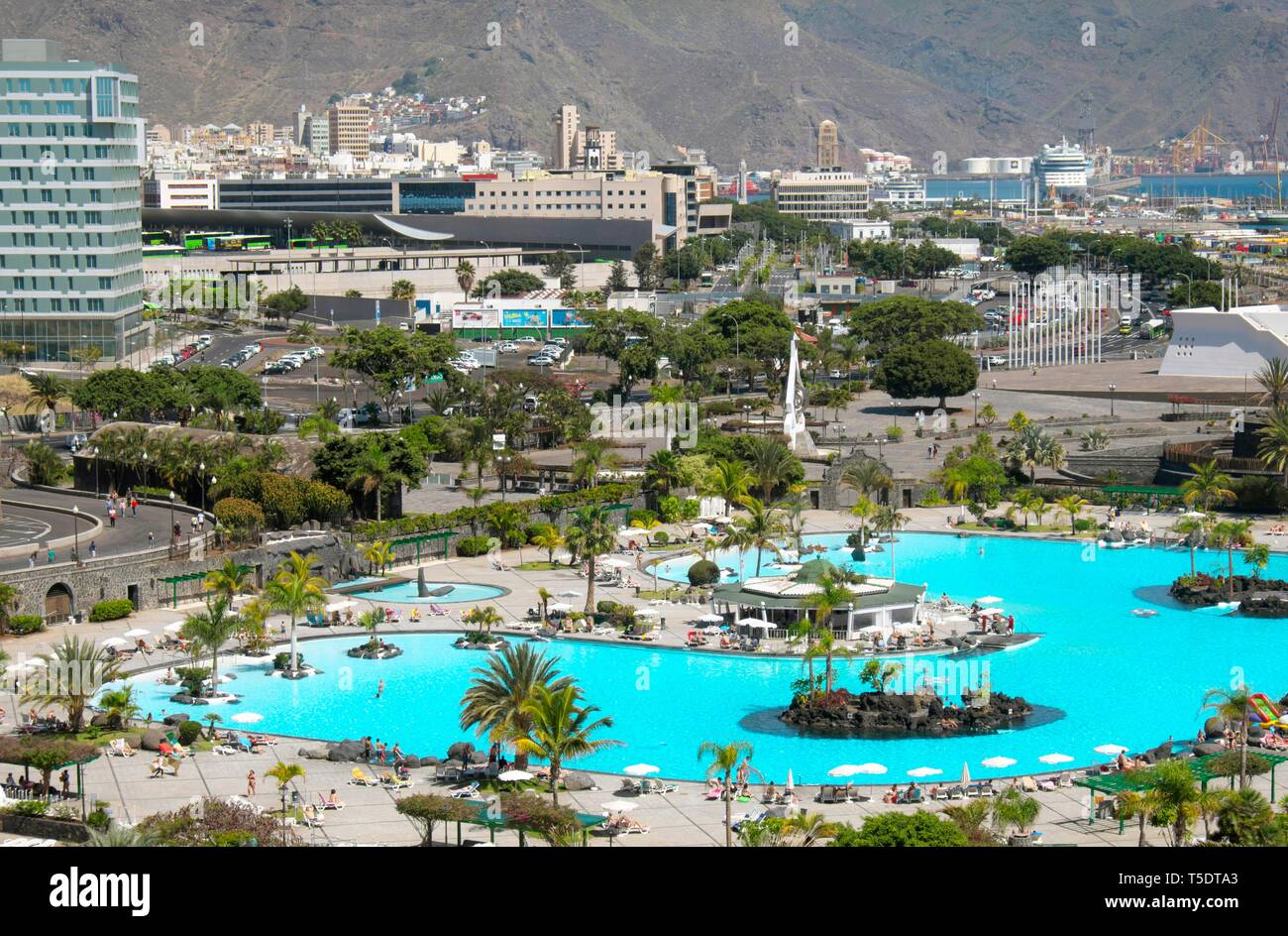 Overview Of Parque Maritimo Outdoor Swimming Pool Of Cesar