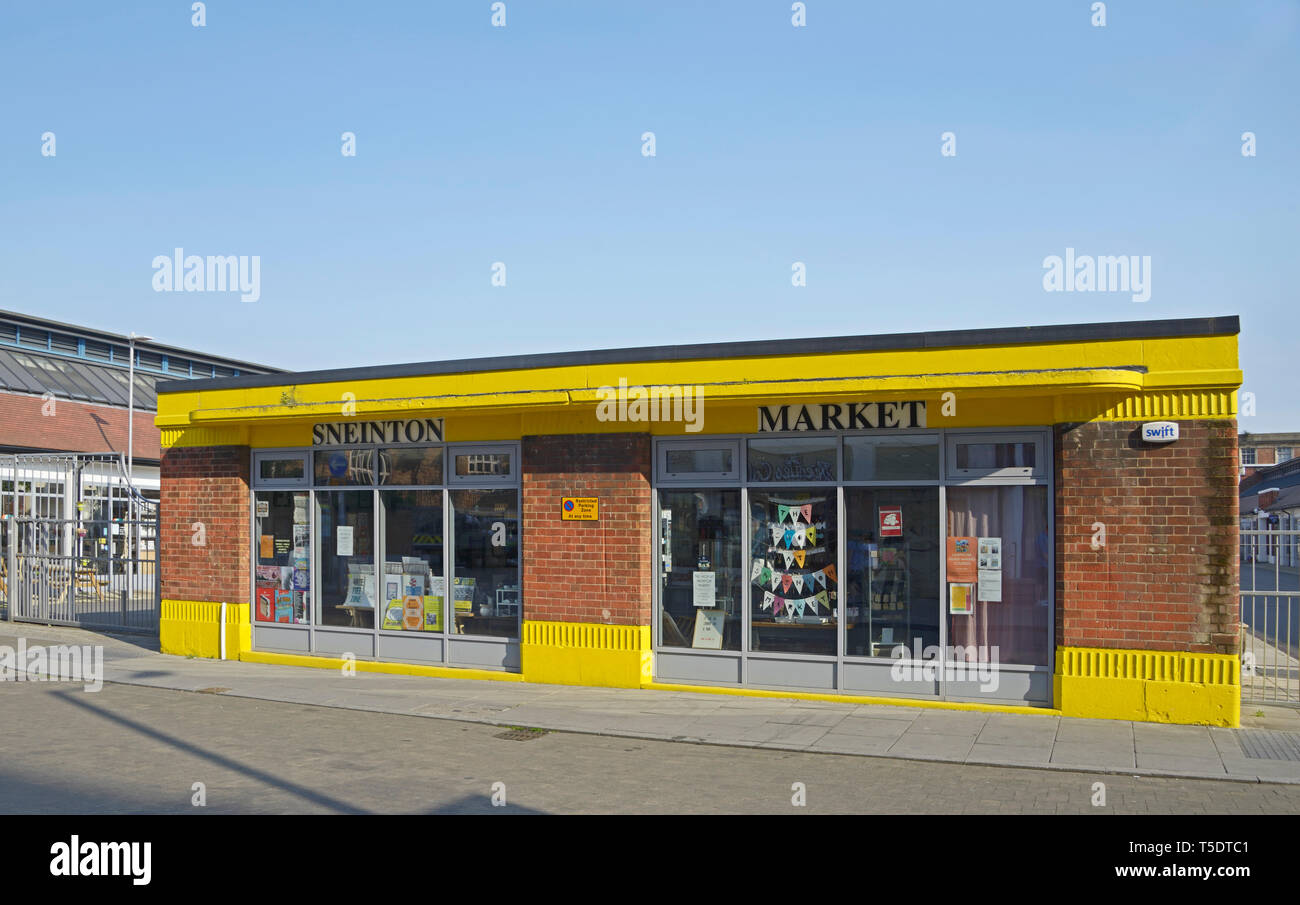 Shop units at the refurbished Sneinton Market, in Nottingham, England. - Stock Image