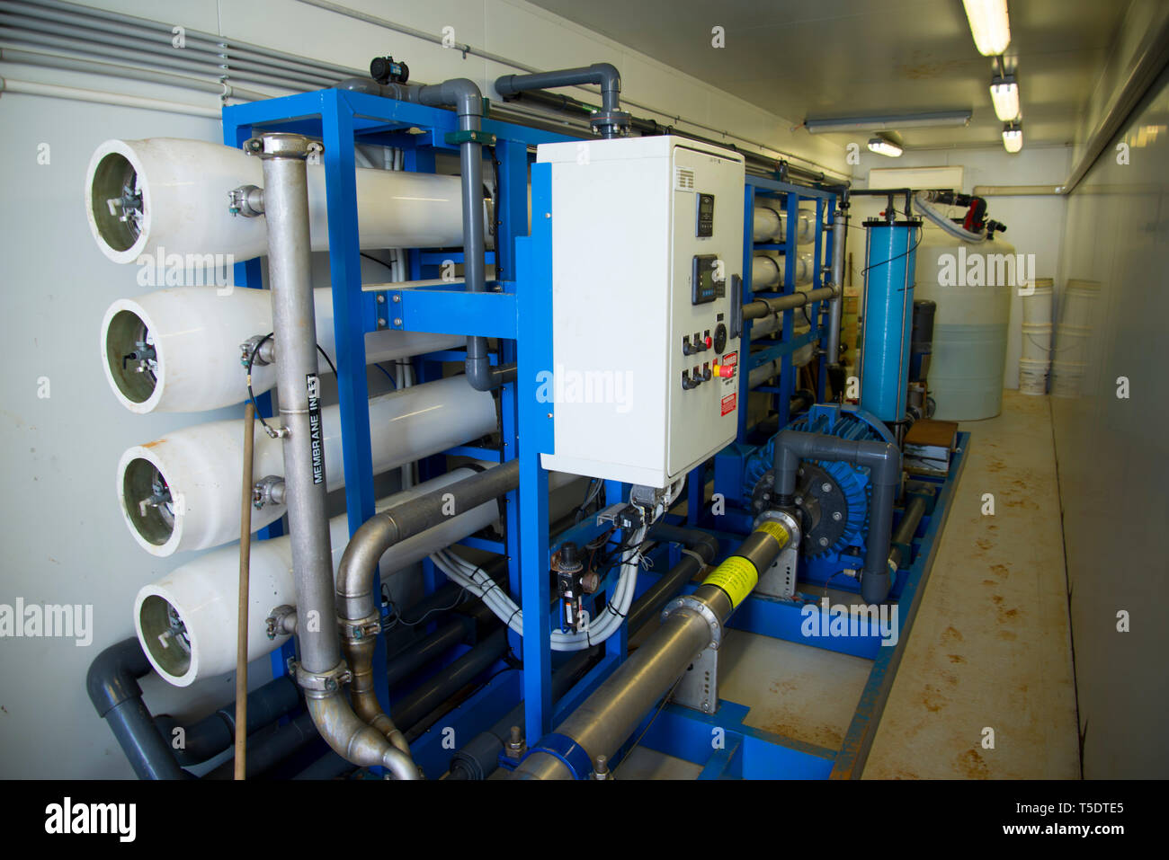 Industrial Reverse Osmosis Water Filter - Stock Image