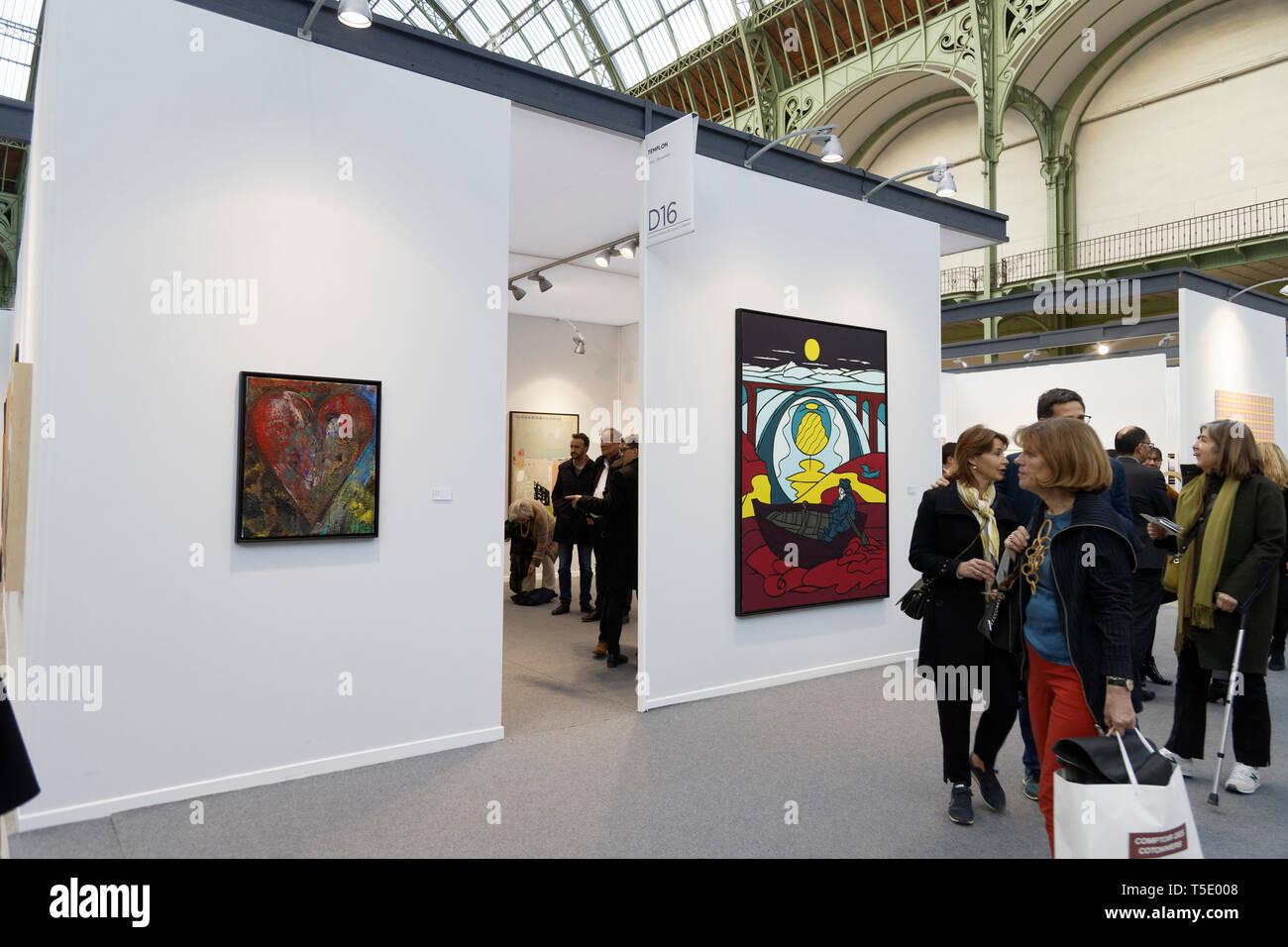 Templon Gallery exibited at Paris Art Fair, Paris, 2019, France. Credit: Veronique Phitoussi/Alamy Stock Photo Stock Photo
