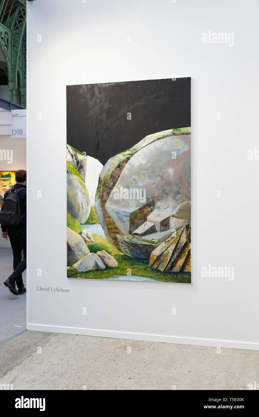 David Lefebvre exibited at Paris Art Fair, Paris, 2019, France. Credit: Veronique Phitoussi/Alamy Stock Photo Stock Photo