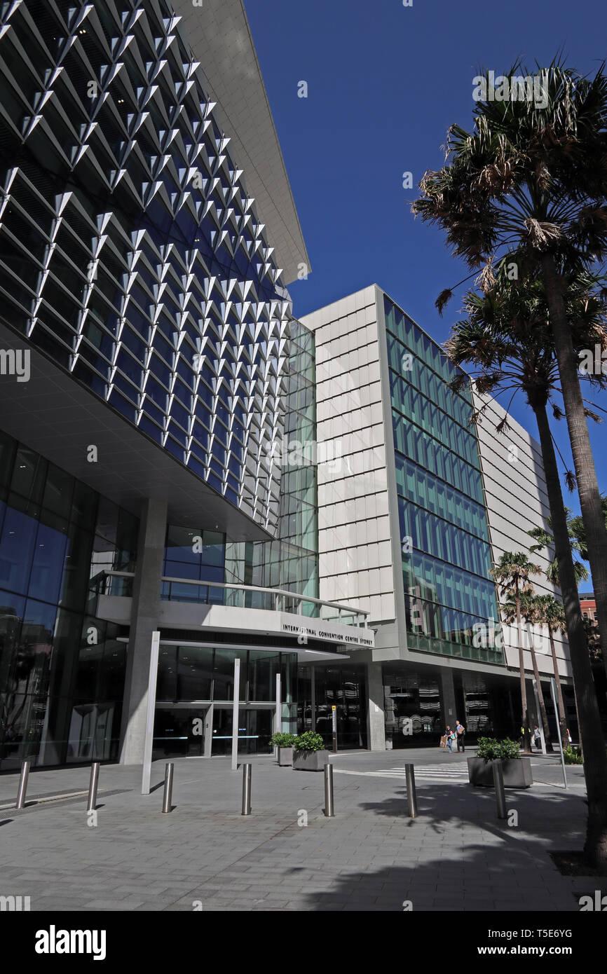 ICC Convention Centre, Darling Harbour, Sydney, Australia - Stock Image