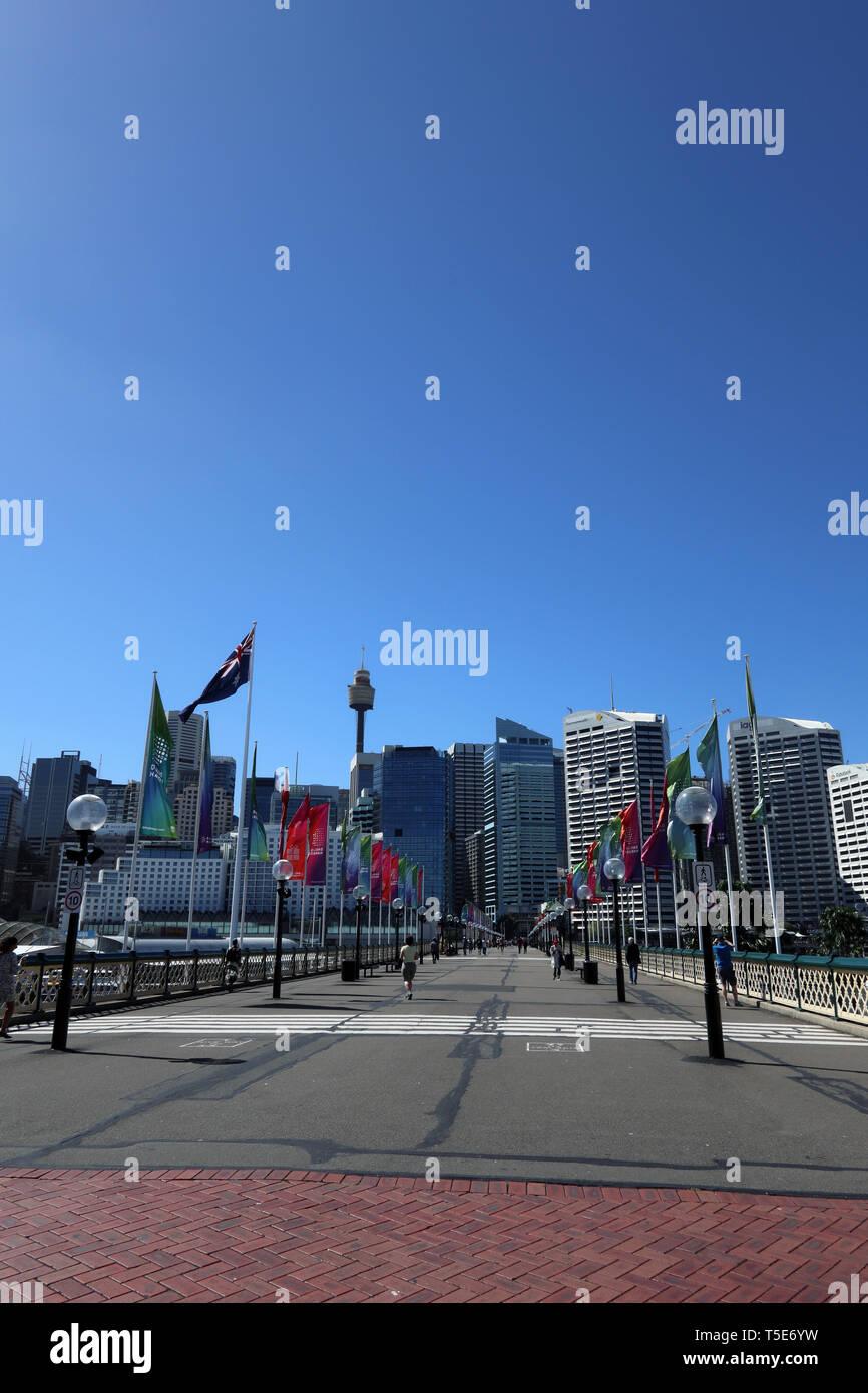 Darling Harbour, Sydney, Australia - Stock Image