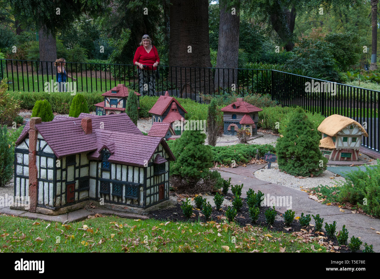 Model Tudor village in Fitzroy Gardens, East Melbourne, Australia Stock Photo