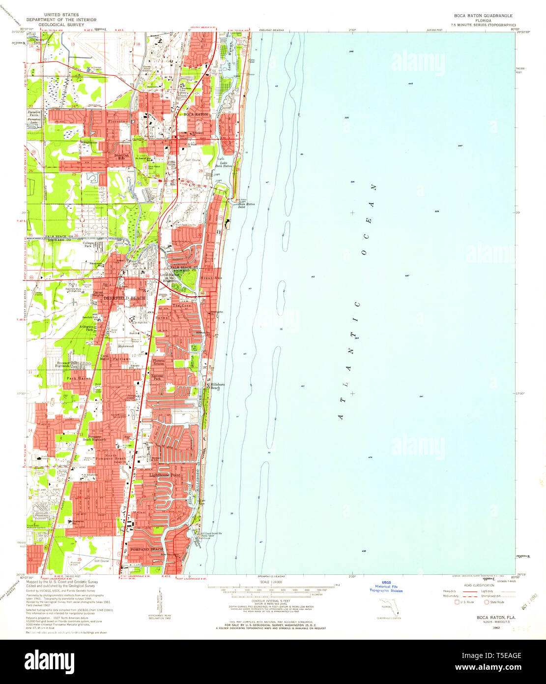 Map Of Florida Showing Boca Raton.Usgs Topo Map Florida Fl Boca Raton 345233 1962 24000 Restoration