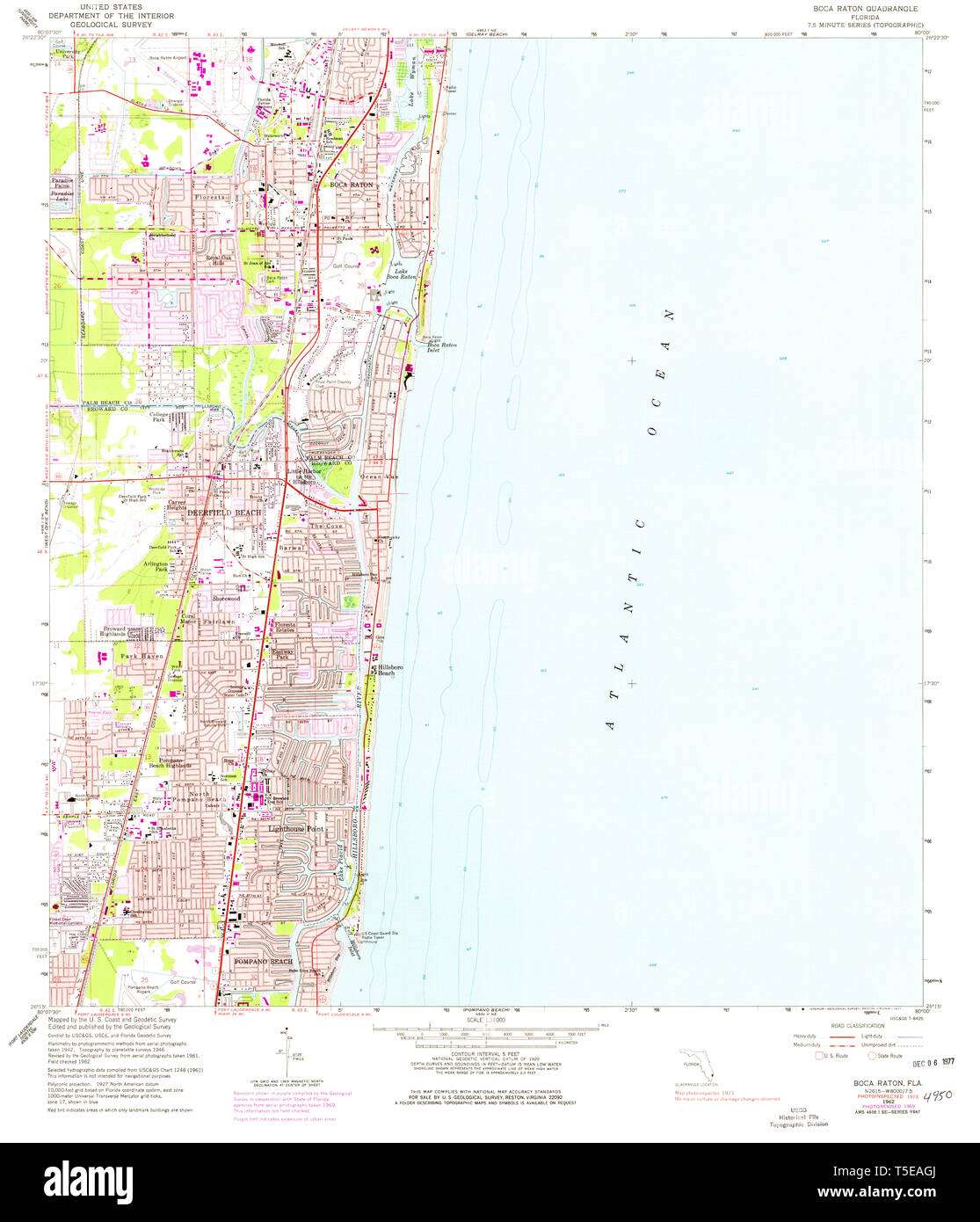Map Of Florida Showing Boca Raton.Usgs Topo Map Florida Fl Boca Raton 345234 1962 24000 Restoration