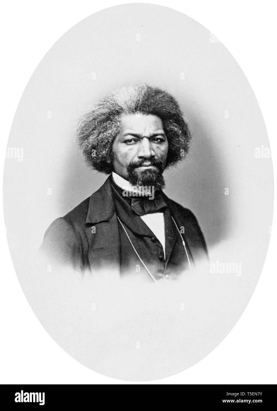 Frederick Douglass (1818-1895), portrait by John White Hurn, 1862 - Stock Image