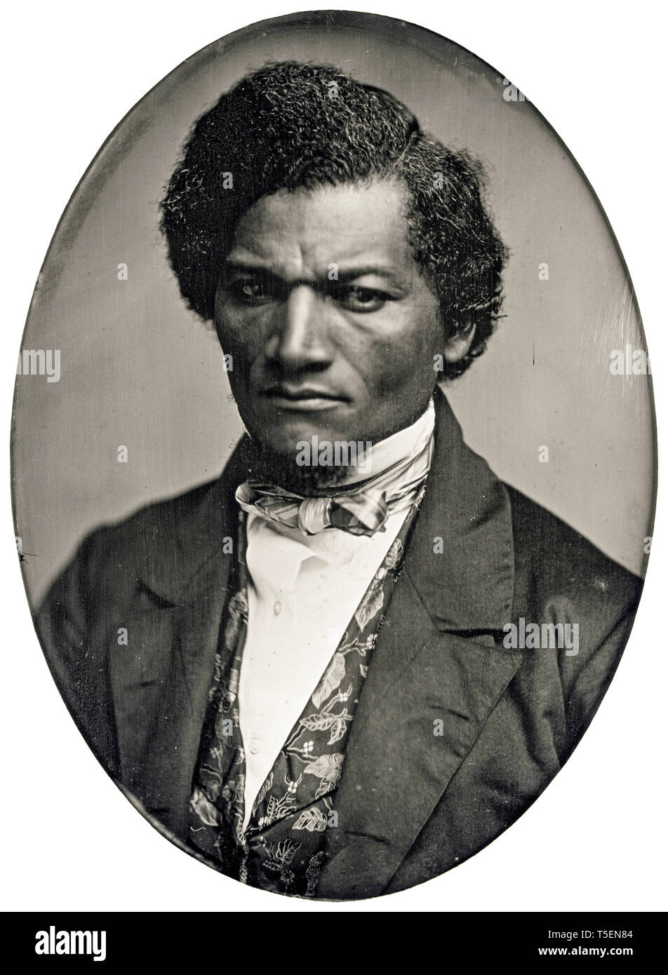 Frederick Douglass (1818-1895), portrait by Samuel J. Miller, daguerreotype,  c. 1847 Stock Photo