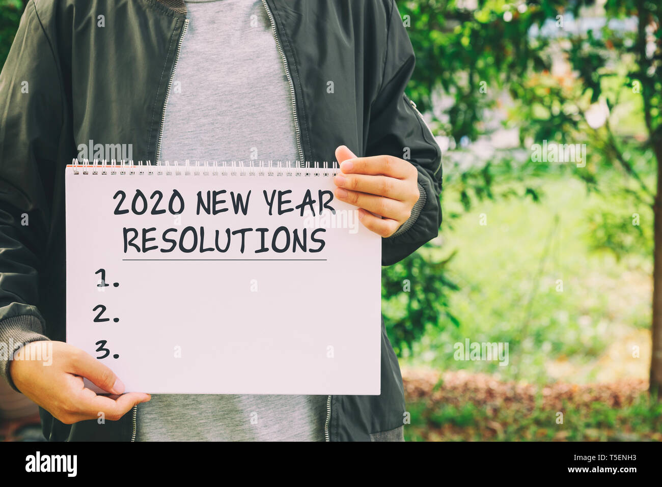 New Years Resolution 2020.Year 2020 New Year Resolution Conceptual Image Stock Photo