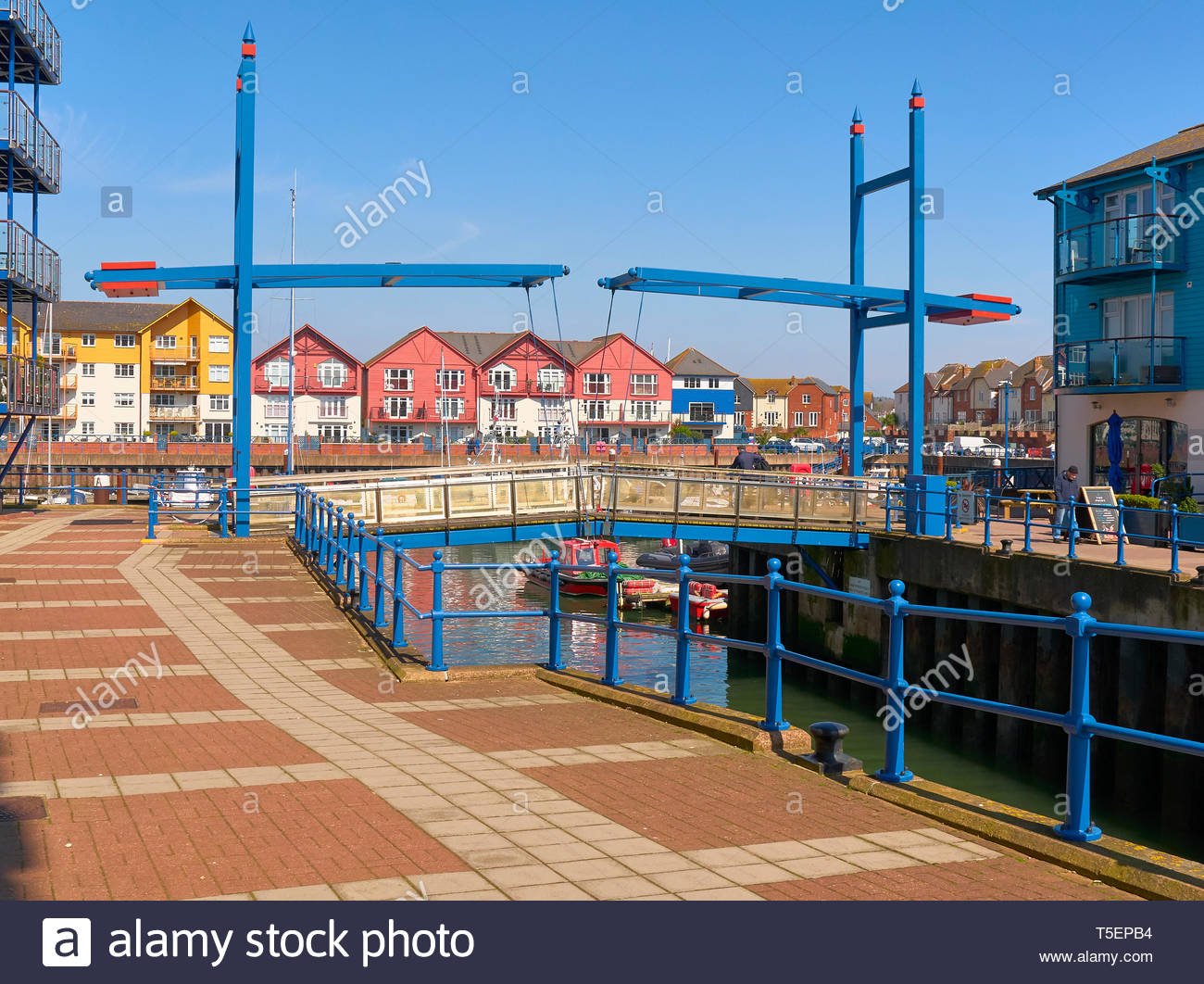 The exe estuary leading into exmouth marina in south devon in england uk Stock Photo
