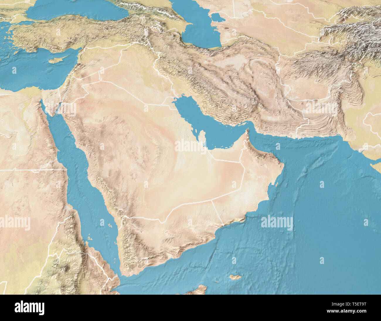 Arabian Peninsula Map High Resolution Stock Photography And Images Alamy