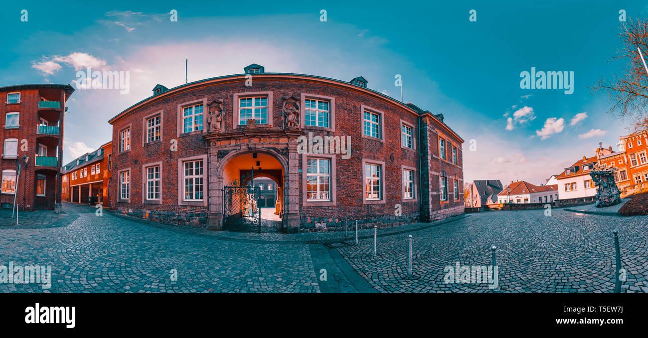 Old Abteistrasse of Moenchengladbach - Stock Image