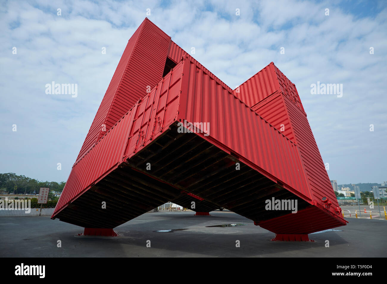 Shipping Container Sculpture High Resolution Stock Photography And Images Alamy