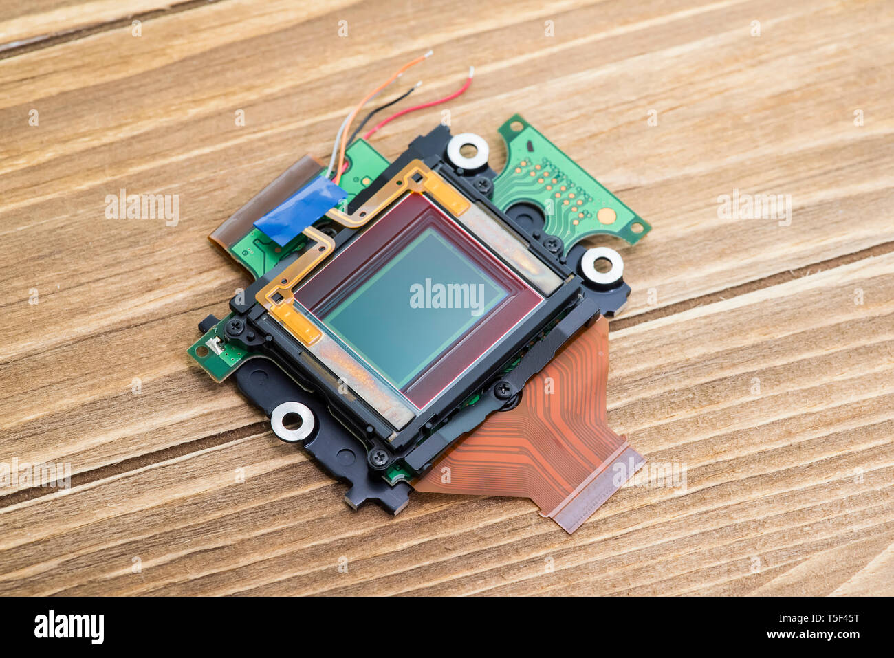 CCD sensors from the modern mass compact digital camera - Stock Image
