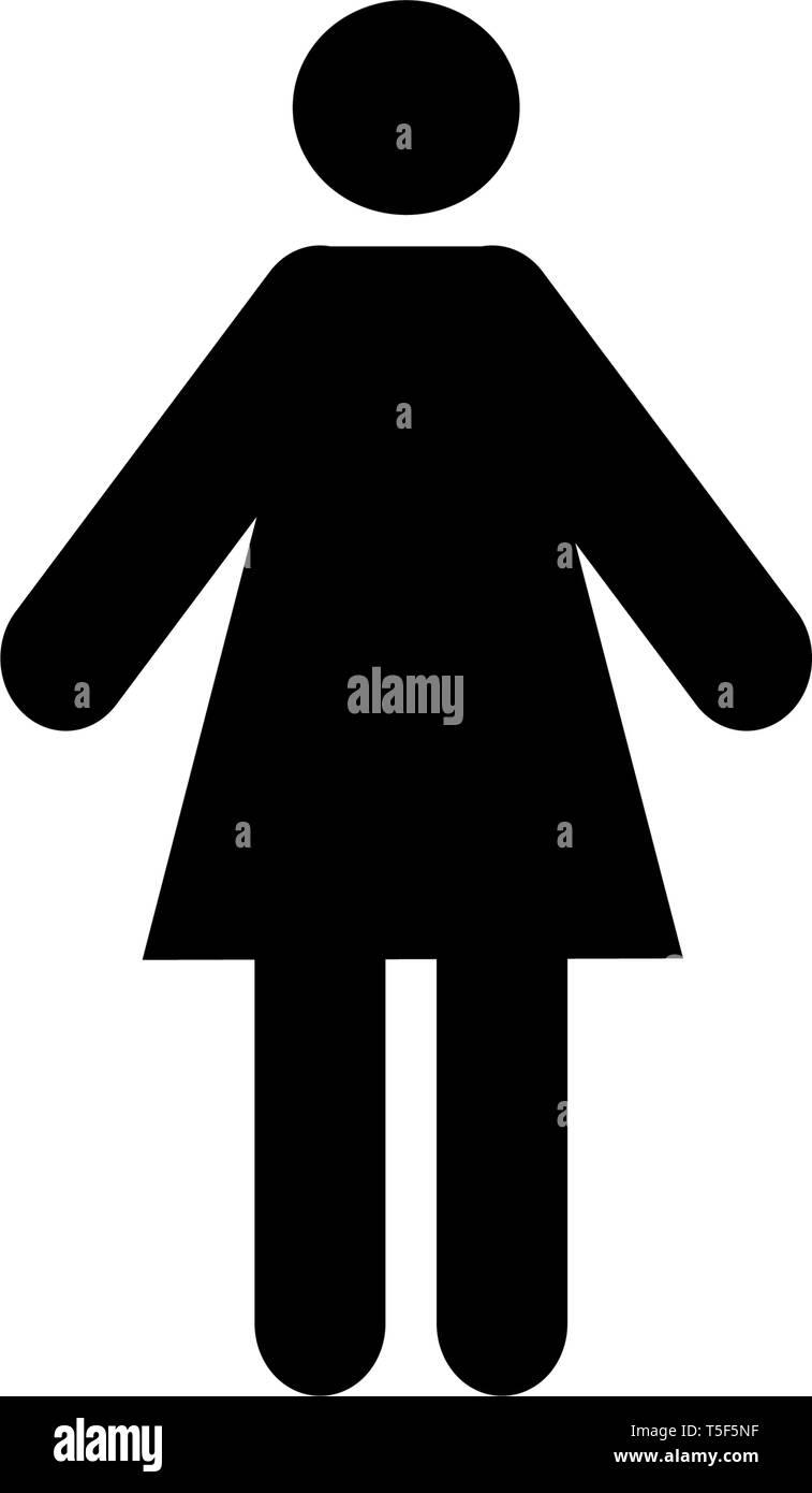 woman vector icon - Stock Vector