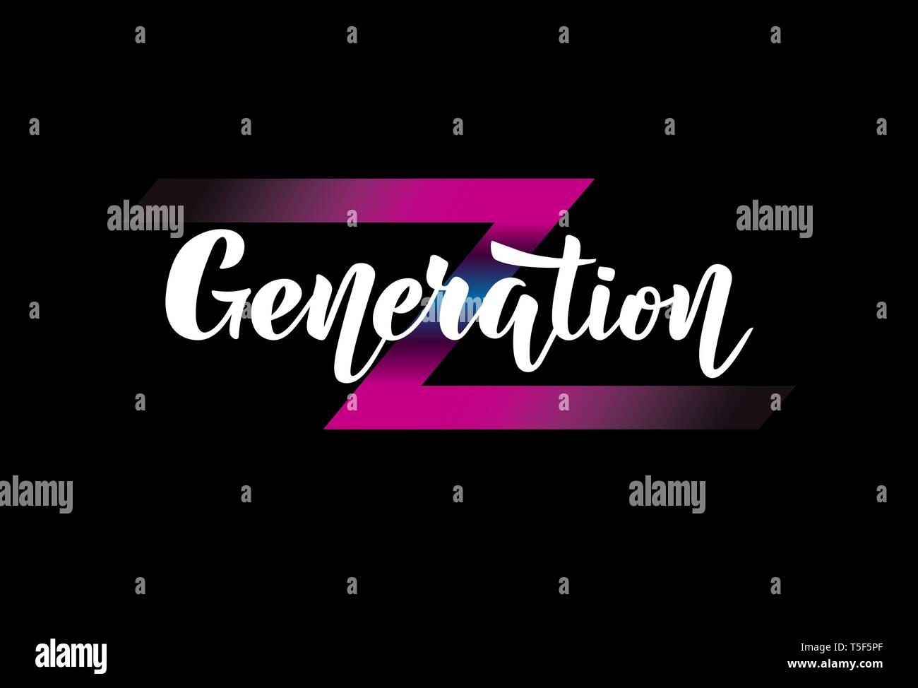 Illustration with handwritten phrase Generation Z. - Stock Vector