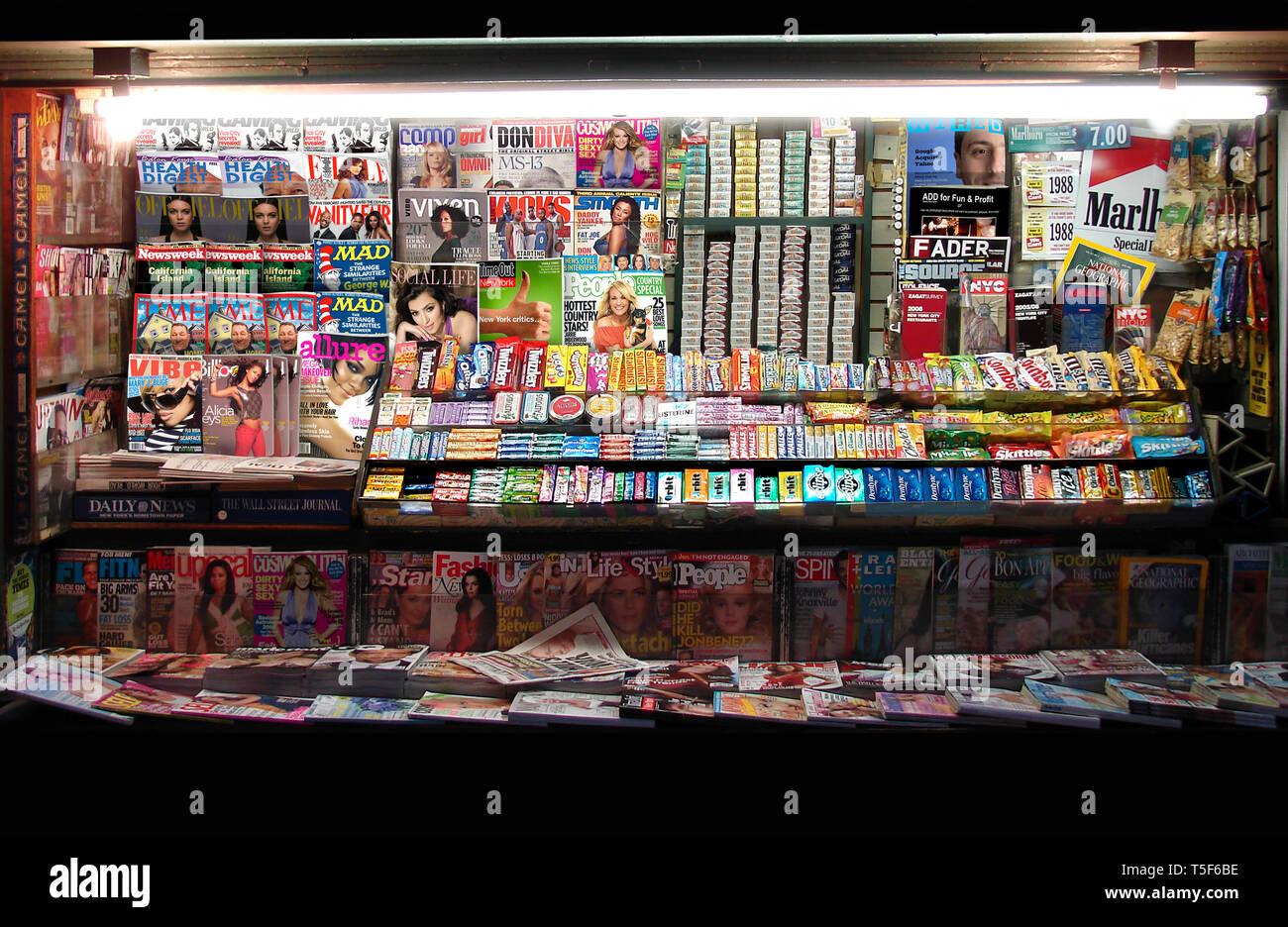 NYC Newsstand Stock Photo