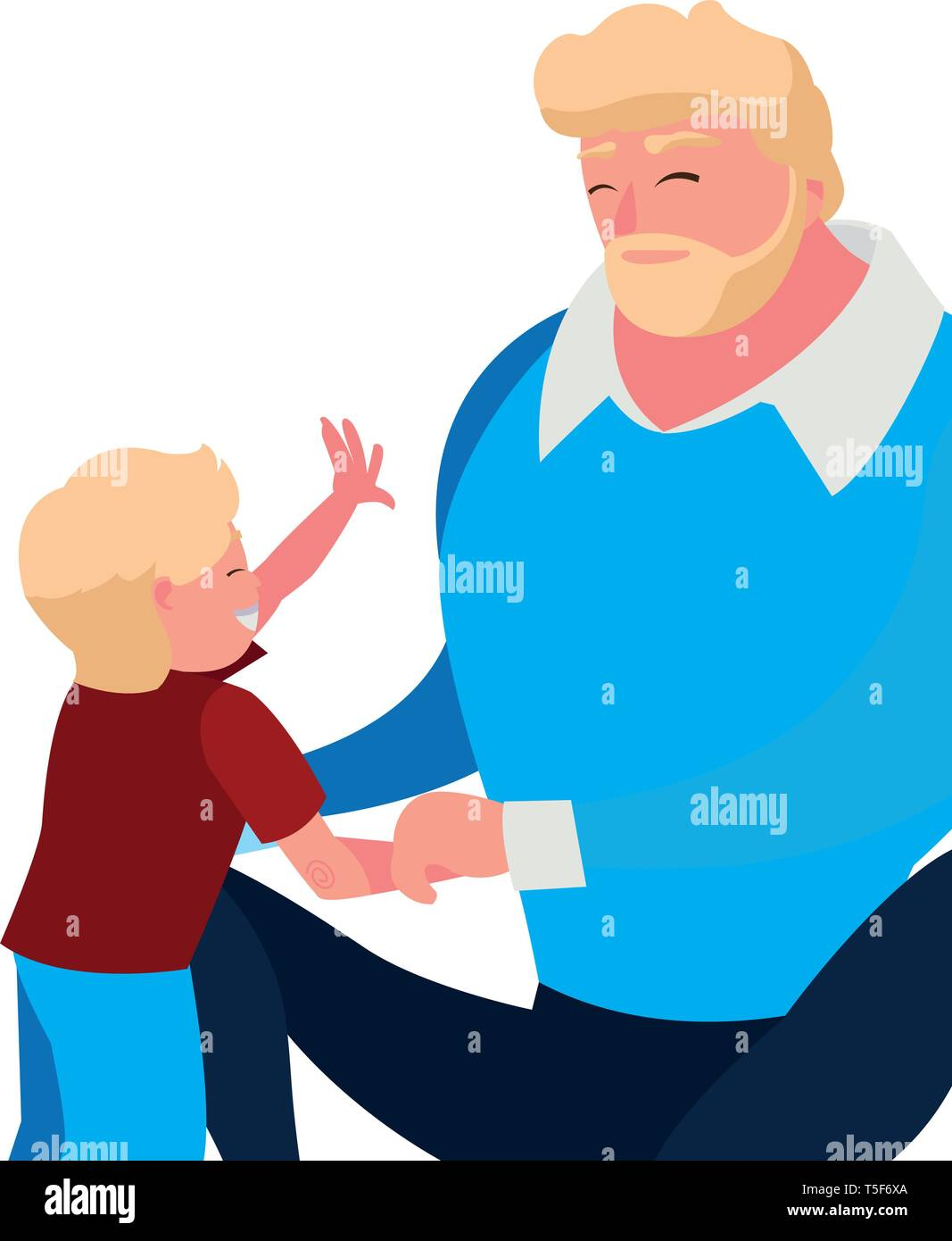 father with son characters vector illustration design - Stock Vector