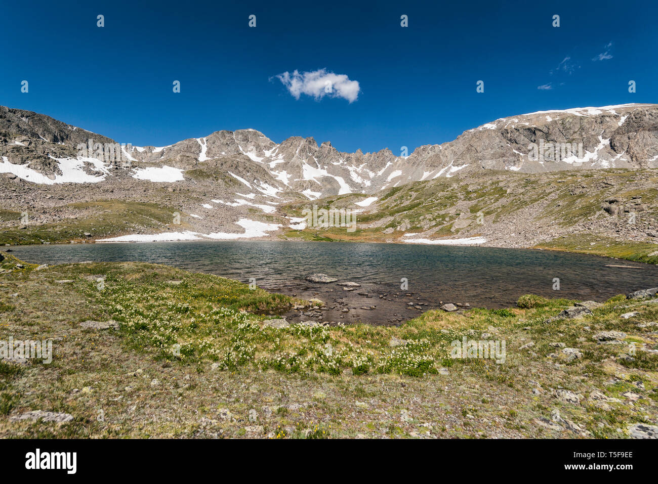 High altitude lake in Colorado - Stock Image