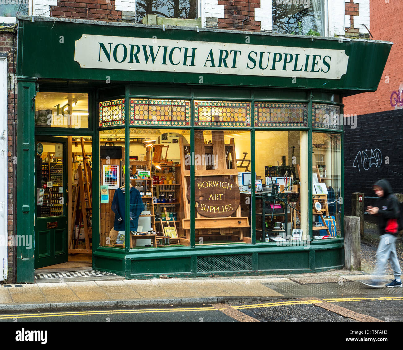 Norwich Art Supplies Shop in central Norwich UK - Artist Equipment Store - Stock Image