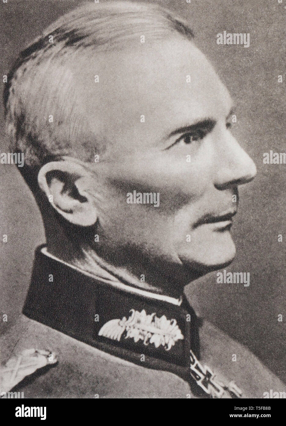Portrait of the field marshal von Bock (1880-1945), Commander of the German armies on the central front (East Front). - Stock Image
