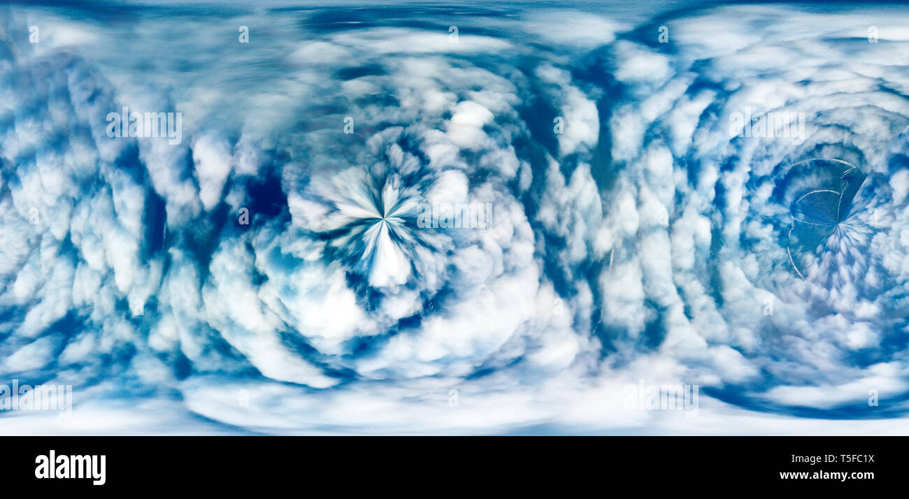Parade of cyclones, nebulosity. Cyclonic processes in meteorology -SYNOPTIC fantasy of weather prediction - Stock Image