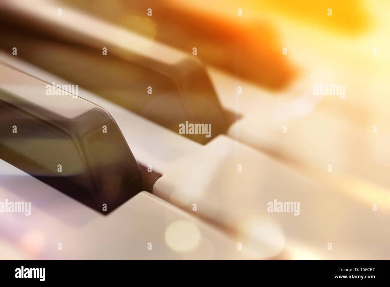 Piano keys abstract background Relax music for travel road