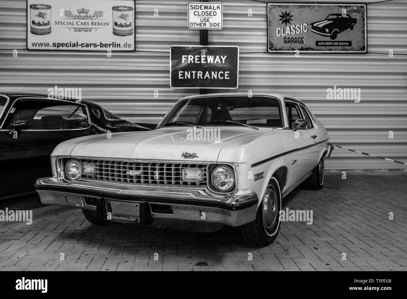 BERLIN - MAY 05, 2018: Compact car Chevrolet Nova, 1974