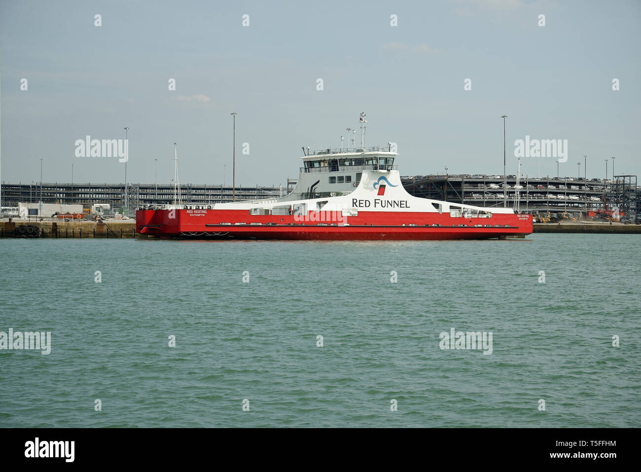 Red Funnel ferry in Southampton. - Stock Image