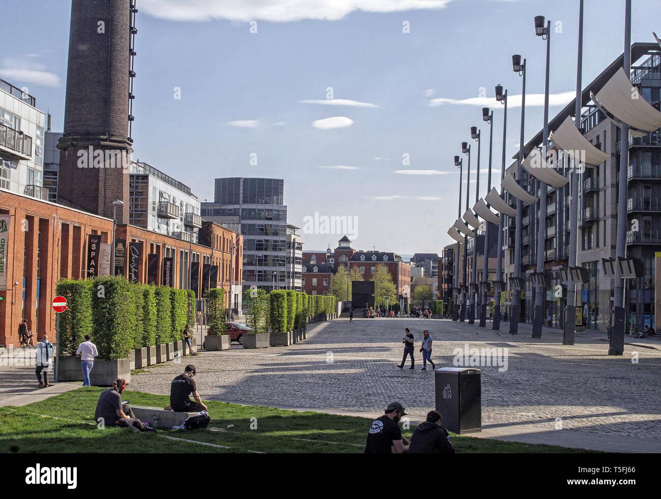 6b2bc5ff4eae4 Smithfield Square near Dublin City Centre, ireland. Following redevelopment  the square hosts a major