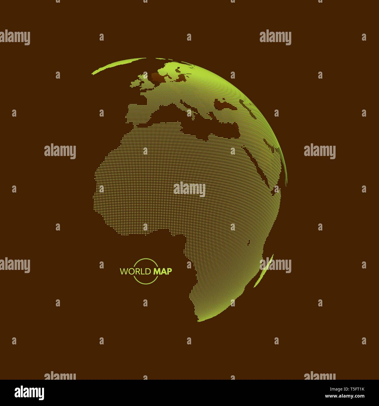 Africa and Europe. Earth globe. Global business marketing concept. Dotted style. Design for education, science, web presentations. - Stock Image