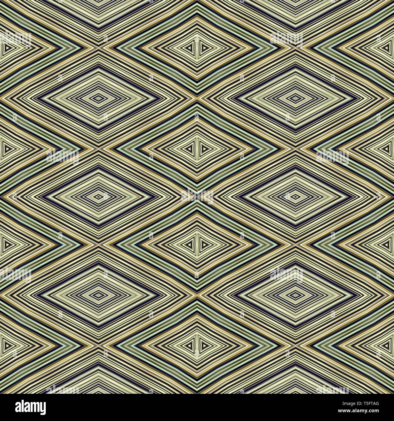 Seamless Diamond Pattern With Olive Green Black Colors Repeating