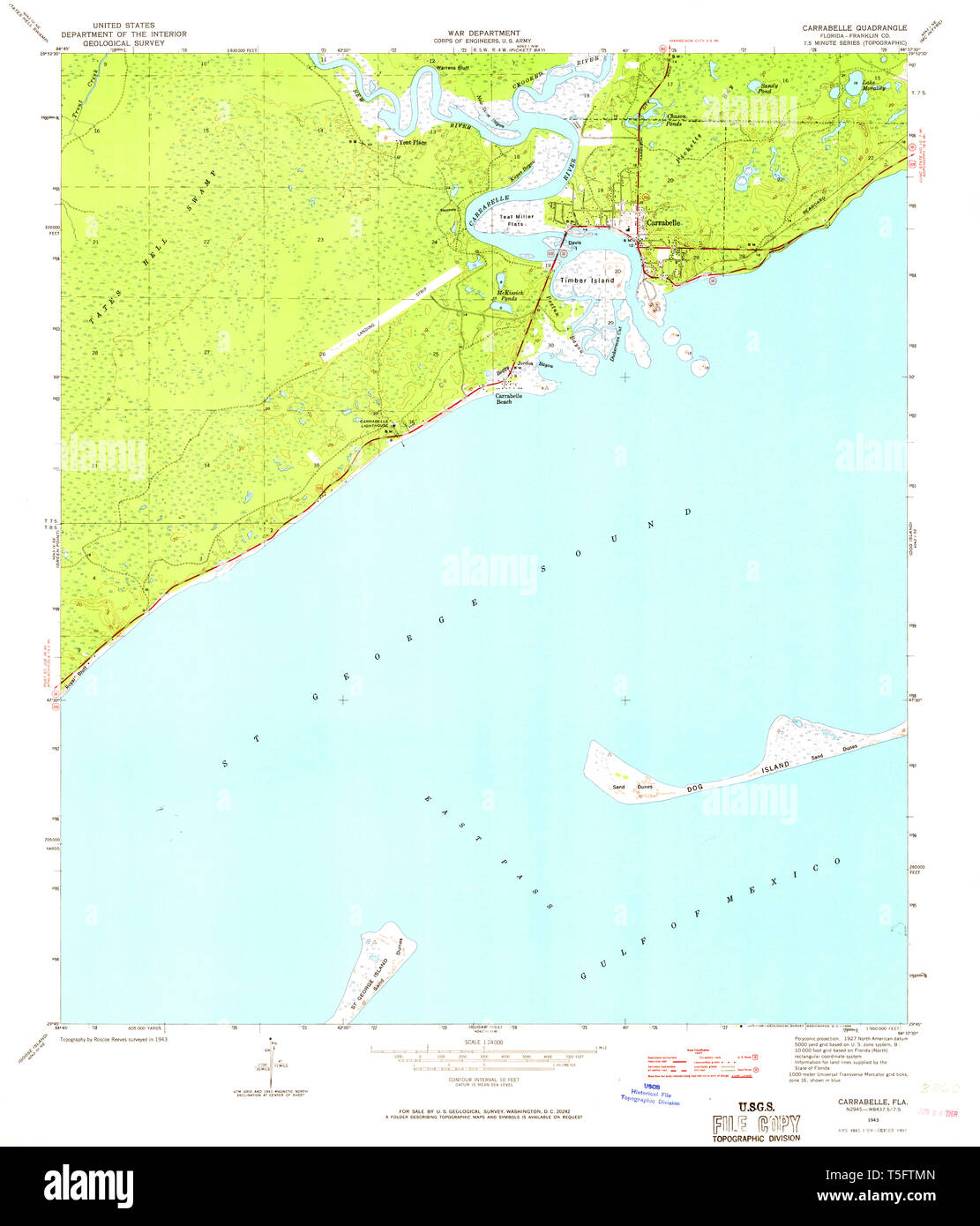 USGS TOPO Map Florida FL Carrabelle 345428 1943 24000 ... Carrabelle Florida Map on bradfordville florida map, pascagoula florida map, sharpes florida map, brookridge florida map, evinston florida map, sumatra florida map, molino florida map, pensacola bay florida map, campbellton florida map, warrington florida map, vamo florida map, baton rouge florida map, north carolina florida map, st. johns river florida map, hypoluxo florida map, south daytona florida map, st. george island state park florida map, pretty bayou florida map, mobile florida map, massachusetts florida map,
