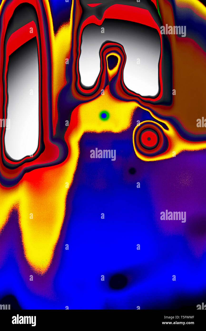 Modern Art Photography Abstract painting, India, Asia - Stock Image