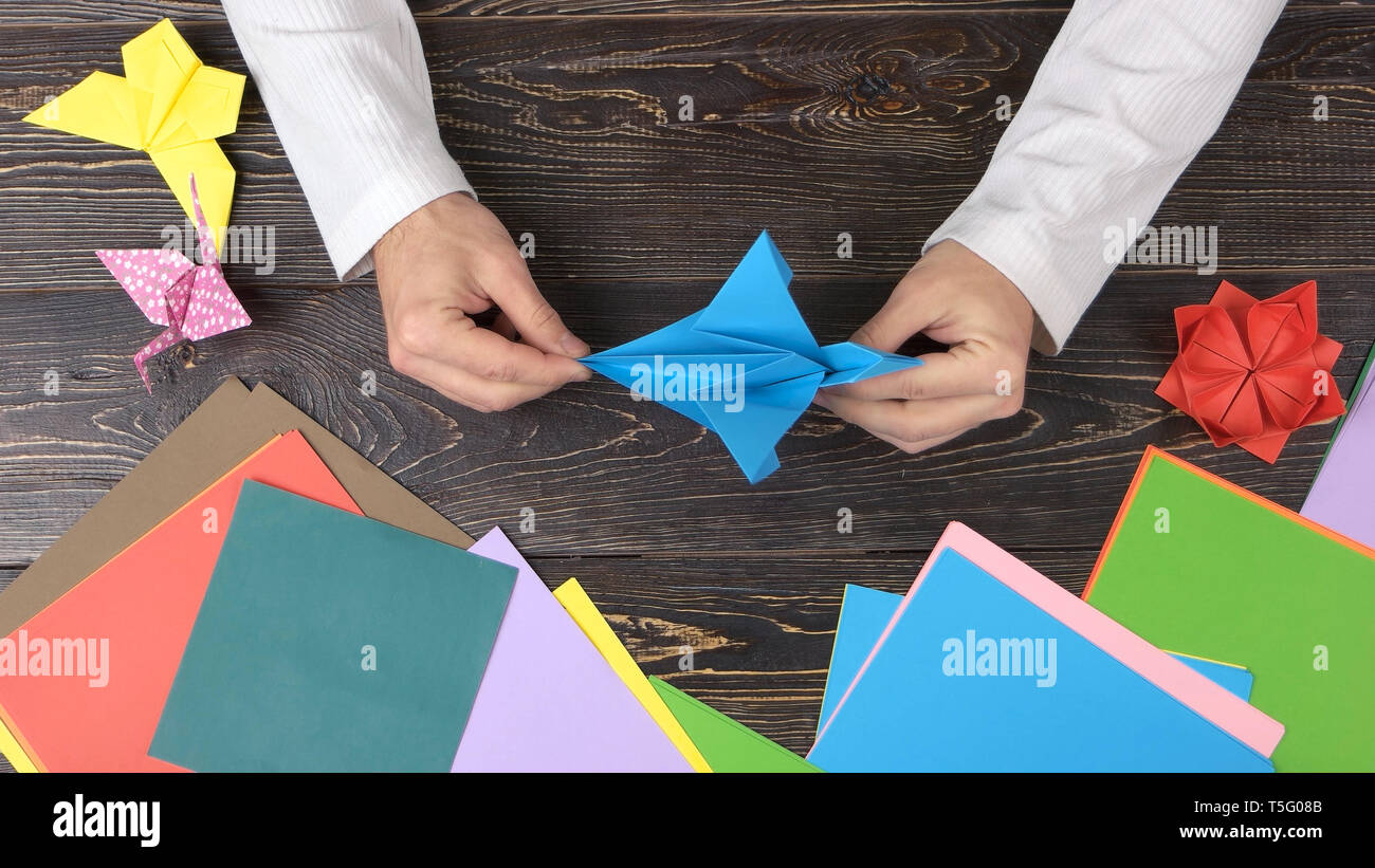 Origami Crane - Kids Origami Paper Crane Craft Tutorial - YouTube | 821x1300