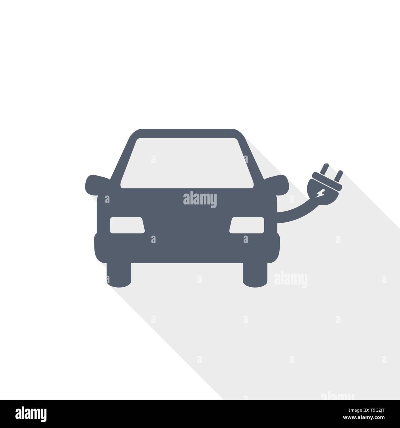 Electric car vector icon - Stock Image