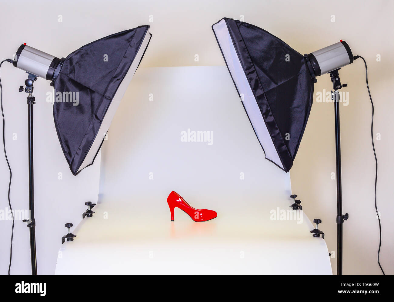 Photo table for product photography in the studio - Stock Image