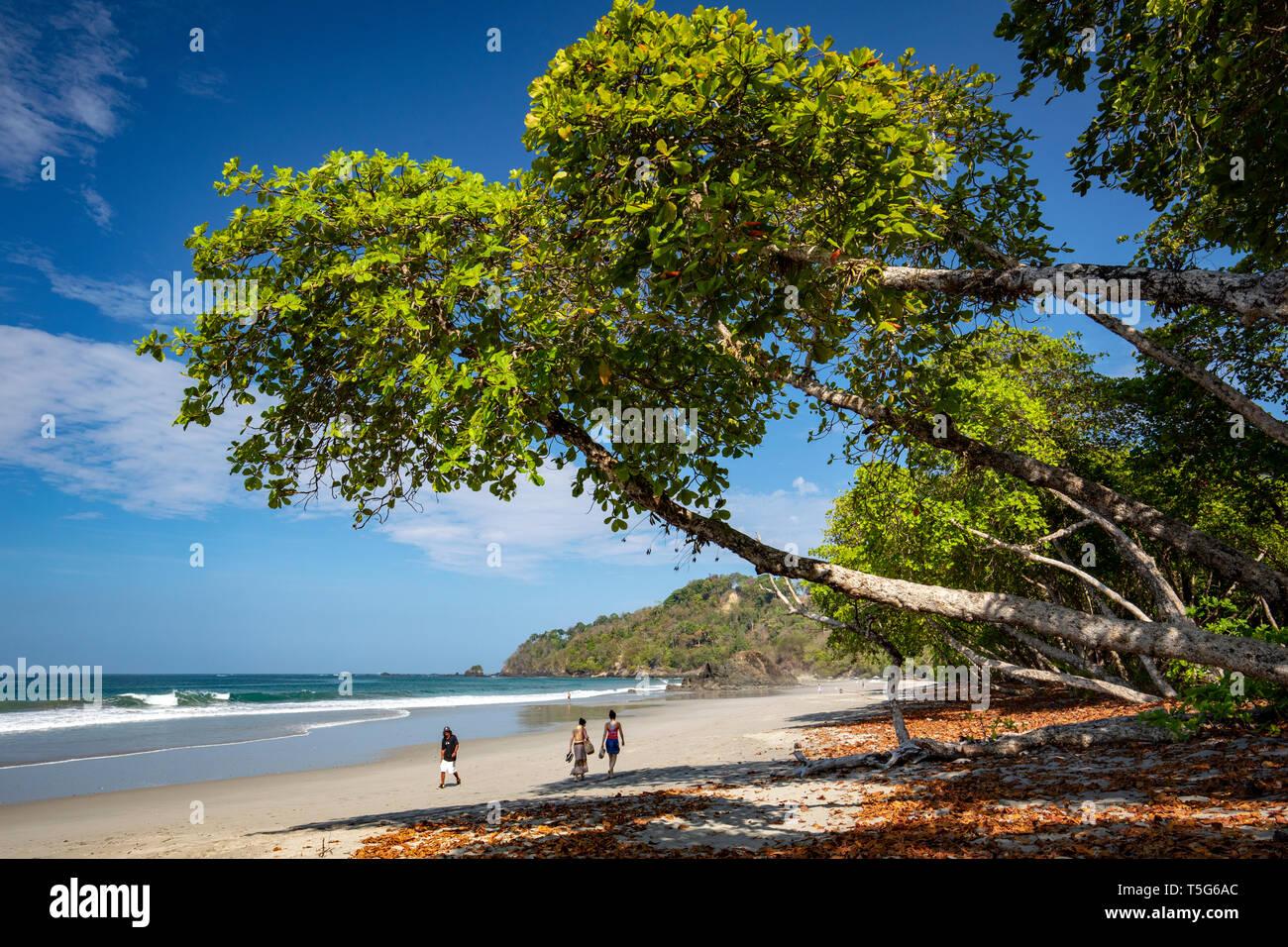 Tropical coastal views of Espadilla Norte Beach, Manuel Antonio, Quepos, Costa Rica - Stock Image